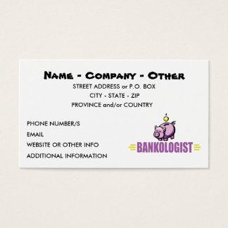 Lustige Piggy Bank Visitenkarte