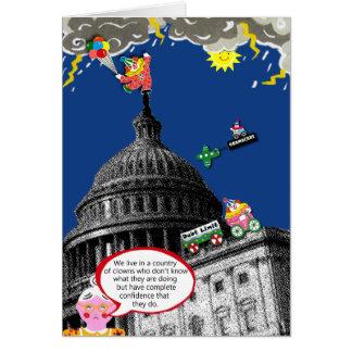 Lustige politische Grußkarte