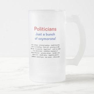 Lustige politische Spaß-Becher Matte Glastasse