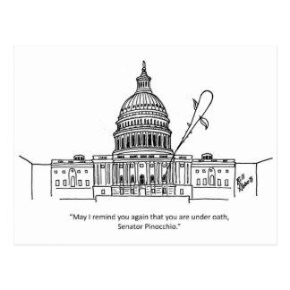 Lustige politische Spaß-Postkarte