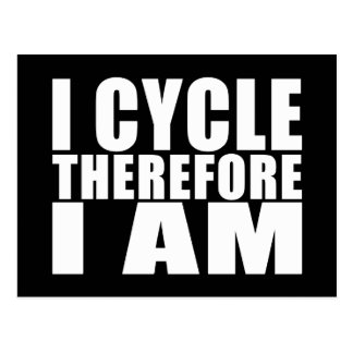 Lustige Radfahrer-Zitat-Witze: Ich fahre deshalb Postkarte
