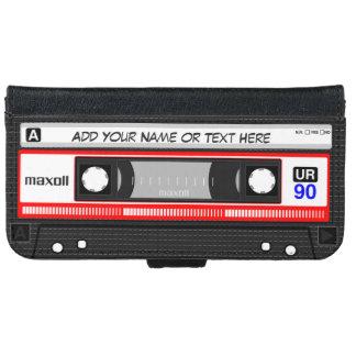 Lustige Retro Musik-Kassette iPhone 6 Geldbeutel Hülle