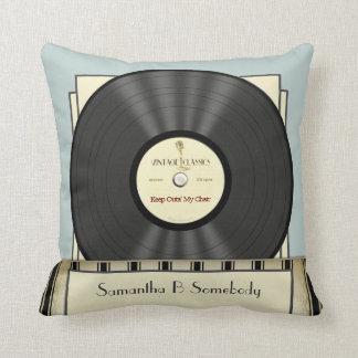 Lustige Retro Vintage klassische Vinylaufzeichnung Kissen