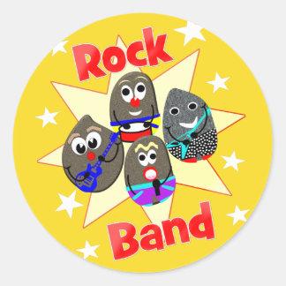 Lustige Rockband-Rock-Malerei-Fans Runder Aufkleber