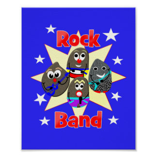 Lustige Rockband-Rock-Malerei lockert Grafik auf Poster