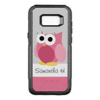Lustige rosa Eulen-personalisierte OtterBox Commuter Samsung Galaxy S8+ Hülle
