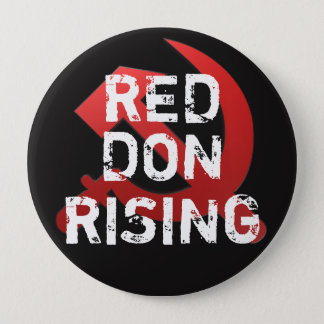 """Lustige """"rote steigende Dämmerung"""" mit russischer Runder Button 10,2 Cm"""