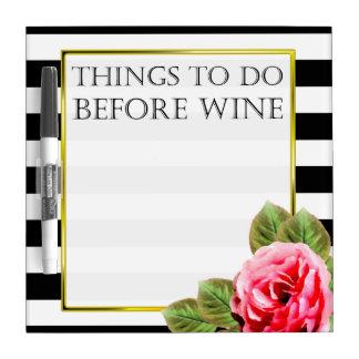 Lustige Sachen, zum vor Wein zu tun Memoboard