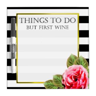 Lustige Sachen zum zu tun aber erster Wein Trockenlöschtafel