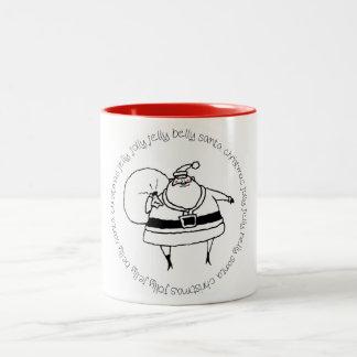 Lustige Sankt-Tasse Zweifarbige Tasse