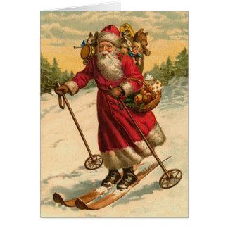 Lustige Sankt-Weihnachtskarte Karte