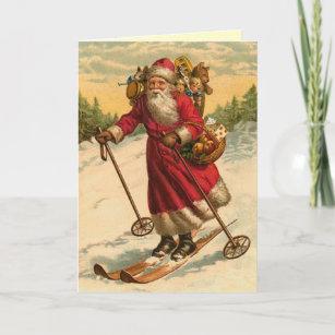 Lustige Sankt-Weihnachtskarte Weihnachtskarte