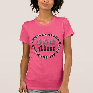 Lustige Schach-Spieler kennen den ganzen Hemd