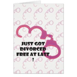 Lustige Scheidung frei schließlich Karte