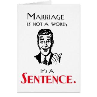 Lustige Scheidungs-Witz-Gruß-Karte Karte