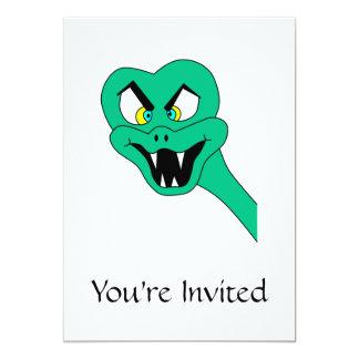 Lustige Schlangen-Karikatur Ankündigungskarte