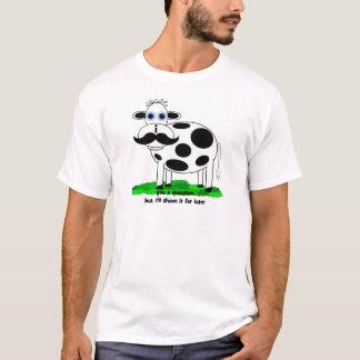 lustige Schnurrbartkuh T-Shirt