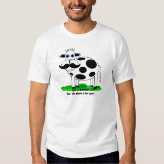 lustige Schnurrbartkuh T-shirts