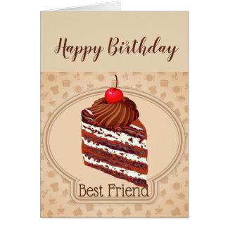 Lustige Schokoladen-Kuchen-bester Karte