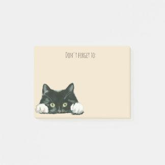 lustige schwarze Katze der Post-it Klebezettel