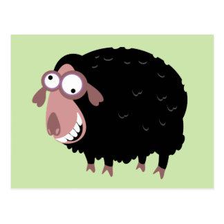 Lustige schwarze Schafe Postkarte