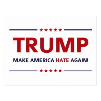 Lustige Slogan-Parodie Donald Trump Postkarte