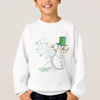 Lustige Snowman-Furz-Schneeflocken Sweatshirt