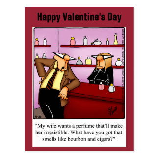 Lustige Spaß-Postkarte des Valentines Tages Postkarte