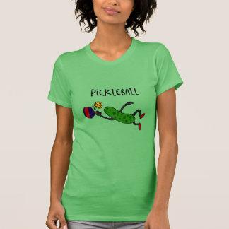 Lustige Springenessiggurke, die Pickleball spielt T-Shirt