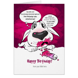"Lustige Stier-Terrier-Cartoon-Karte ""alles Gute Karte"