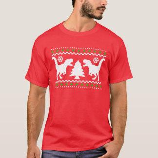 Lustige T-Rex hässliche Weihnachtsstrickjacke T-Shirt