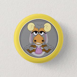 Lustige Tiere, Ziege, Runder Button 3,2 Cm