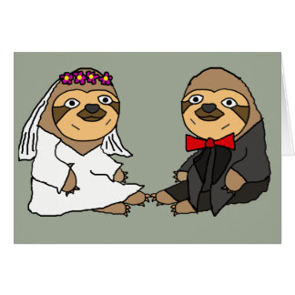 Lustige Trägheits-Braut-und Bräutigam-Hochzeit Grußkarte
