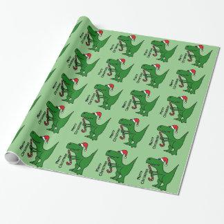 Lustige Trex Geschenkpapier