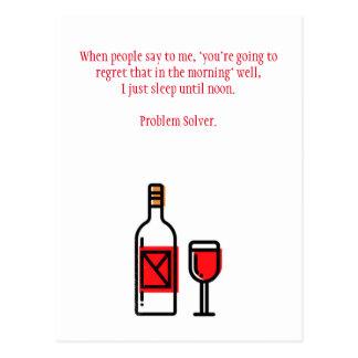 Lustige trinkende Kater-Postkarte Postkarte