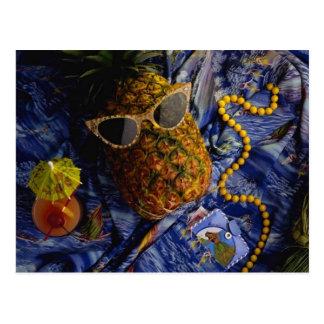 Lustige tropische coole Ananas Postkarte