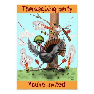 Lustige Truthahn Erntedank-Party Einladungskarte