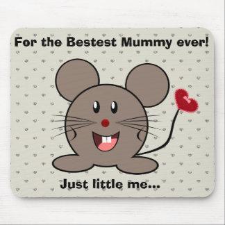 Lustige Valentinstag-Maus Mousepads