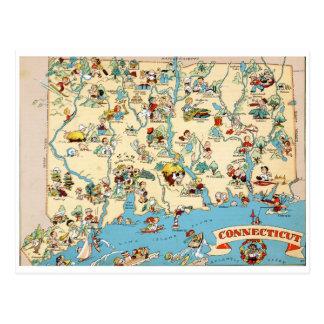 Lustige Vintage Karte Connecticuts