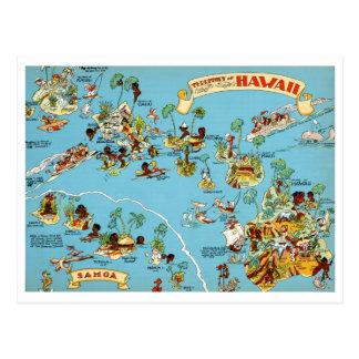 Lustige Vintage Karte Hawaiis