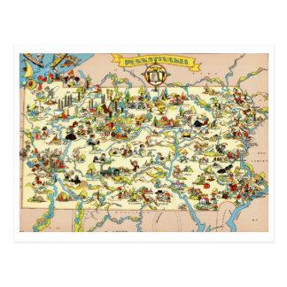 Lustige Vintage Karte Pennsylvanias
