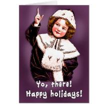 Lustige Vintage Kunst-Weihnachtskarte Grußkarten