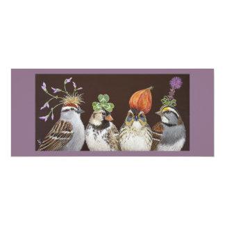 lustige Vogel-Partykarte 10,2 X 23,5 Cm Einladungskarte