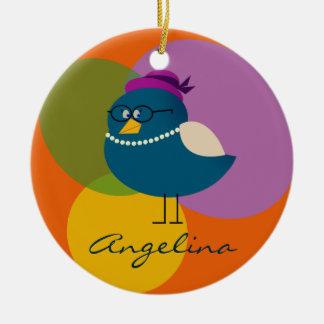Lustige Vogel-Retro Mode-niedlicher Cartoon mit Keramik Ornament