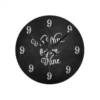 Lustige Wanduhr - kein Wein vor Tafel neun
