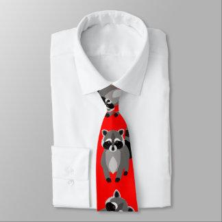 Lustige Waschbär-Gewohnheits-Farbe Krawatte