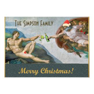 Lustige Weihnachtseinladung Personalisierte Einladung