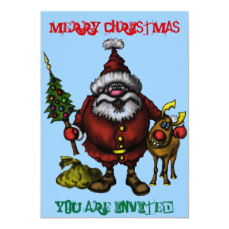 Lustige Weihnachtseinladungskarte 12,7 X 17,8 Cm Einladungskarte