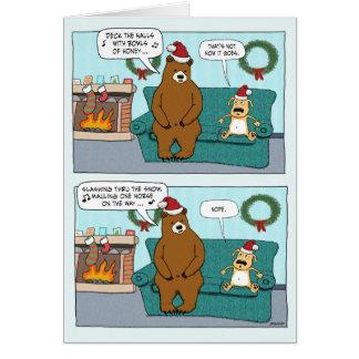 Lustige Weihnachtskarte: Bärn-Liede Grußkarte