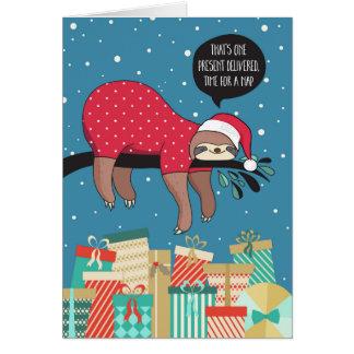 Lustige Weihnachtskarte - die Trägheit Sankt Karte